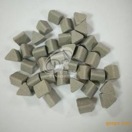 鼎盛正三角棕刚玉研磨石15*15mm 蓝白点陶瓷研磨石