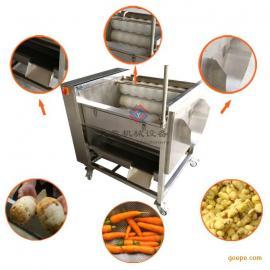 年终厂家直销土豆清洗去皮机 多功能洗菜机 洗苹果机