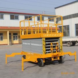 液压剪叉式升降平台SJY1-10高空作业车移动式升降机