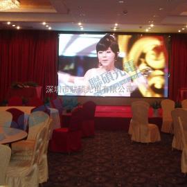 酒楼舞台P4LED彩色大屏幕价格