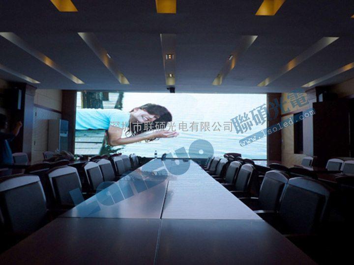 会议室LED显示屏型号 会议显示系统P3全彩电子屏价格