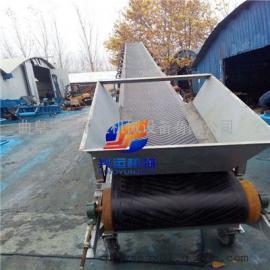 双排方管大架货物格挡式pvc带式输送机