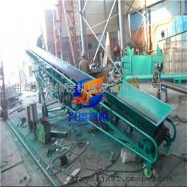 高低可调的圆管输送机,30米长槽型皮带机,变频调速运输机