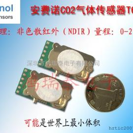 新款安费诺微型红外CO2传感器T6703