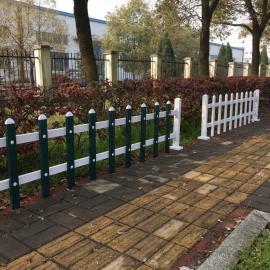 宿松蓝白色PVC绿化带护栏太湖墨绿色PVC草坪护栏
