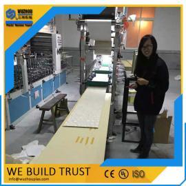 PVC生态艺术集成墙面板生产线北京赛车