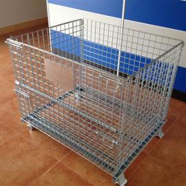 可折叠仓储铁笼,标准现货折叠铁筐,1米的仓库笼