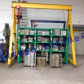 3吨龙门吊架,移动带刹车龙门架,可调节式龙门吊,轻型式龙门吊