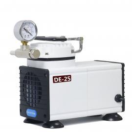 供应DE-25无油 隔膜真空泵 实验室常用隔膜真空泵