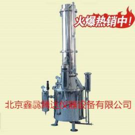 塔式蒸馏水器TZ-50不锈钢塔式蒸汽重蒸馏水器厂家报价
