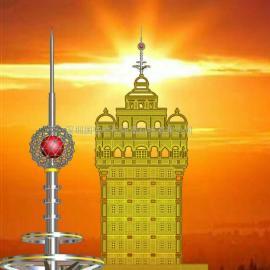 装饰避雷针塔,别墅避雷针安装,高级大厦避雷针,酒店避雷针