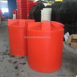 厂家直销1吨塑料加药箱搅拌罐计量罐曝气装置成套设备
