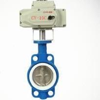 CD971F46-16P不锈钢304全衬氟电动对夹蝶阀