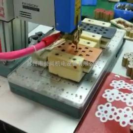 动力电池厚片镀锡铜片凸点自动点焊机宝龙点焊机