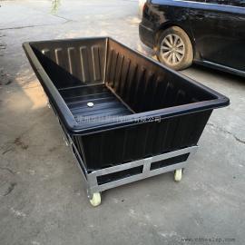 桐柏K1500L方形塑料方箱推布车纺织桶周转桶