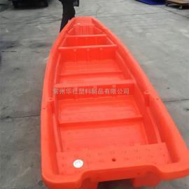华社厂家直销6米塑料船PE双层渔船捕鱼船观光船