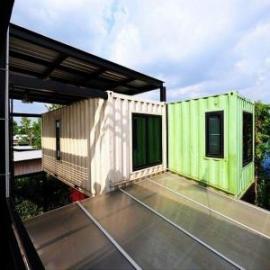 高效保温隔热的舒适型住人集装箱房屋/别墅