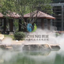 广州假山冷雾工程人工湖景观造雾工程