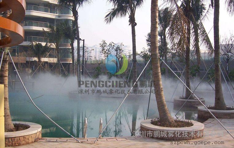 孝感園林冷霧設備假山景觀造霧工程
