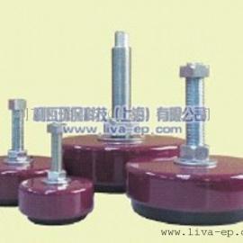 利瓦橡胶式减震器,机床减震装置,机床垫铁减震器