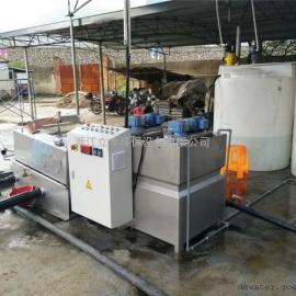 椭叠污泥脱水机应用于打桩废水脱水处理