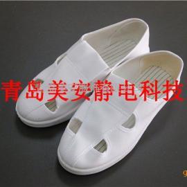 莱芜美安服饰白色防静电鞋PU四孔防静电布鞋