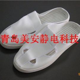 莱芜美安服饰SPU防静电拖鞋白色帆布防静电鞋