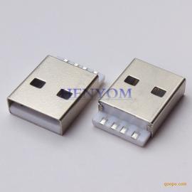 USB A公180度焊线式 苹果公头短体I5 I6插头