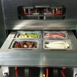 炬钢盒式冷鲜肉半自动真空泵熟食气调包装机 锁鲜气调包装机