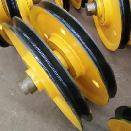10t铸钢滑轮组 抓斗定滑轮 吊钩定滑轮 小车钢丝绳滑轮组