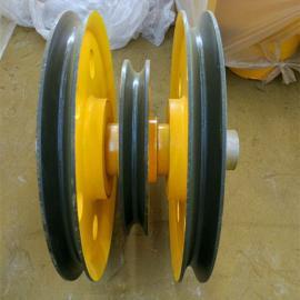 20T带加轮轧制滑轮组 起重机滑轮组 动滑轮组 非标滑轮片