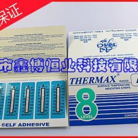 8格A温度热敏试纸-原装正品英国THERMAX温度热敏试纸