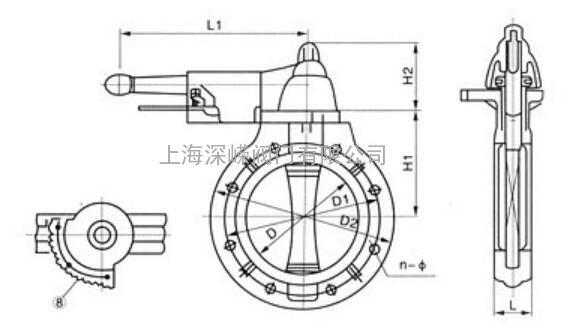 d71x-10vcpvc塑料蝶阀 对夹塑料pvc蝶阀图片