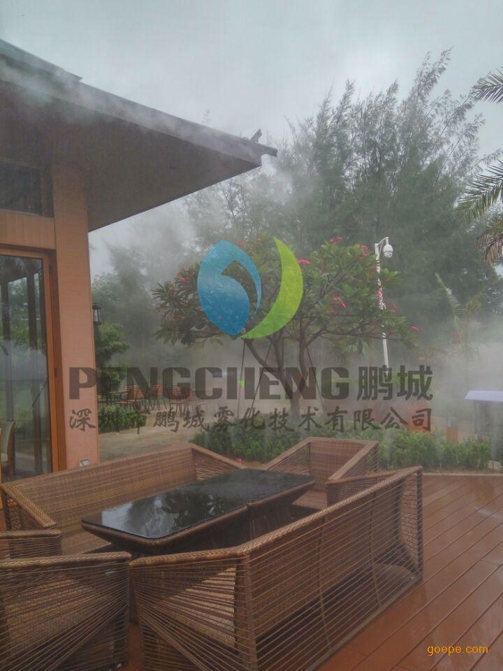 钢结构厂房喷雾降温设备商业街冷雾设备人工湖人造雾冷雾工程