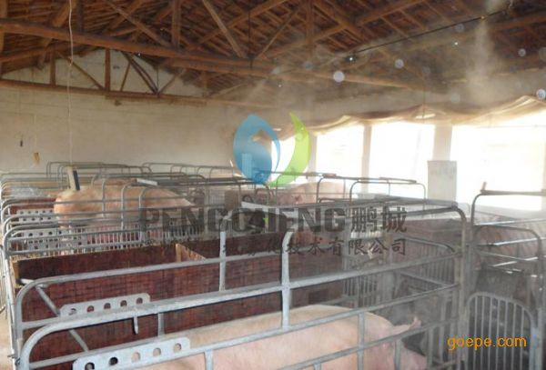 景区喷雾降温工程养殖场冷雾降温人造雾设备