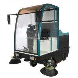 物业小区道路电瓶驾驶式扫地车 封闭式扫地机