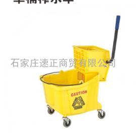 B-040轻便式单桶榨水车 拖把桶洗地拖桶压干挤水器脱水桶