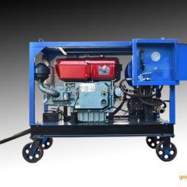 柴油机驱动下水道疏通设备|下水道排淤泥设备街道污水管道清洗机&
