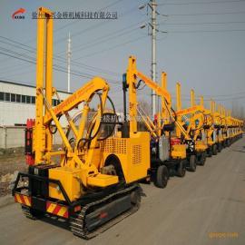 徐州公路护栏打桩机厂家出售高品质波纹护栏施工用打桩机