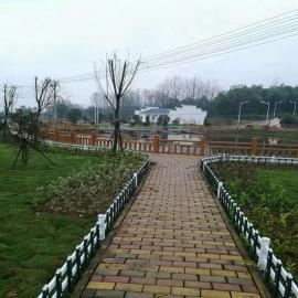 商丘PVC市政园林花坛围栏,睢县PVC草坪绿化栅栏护栏
