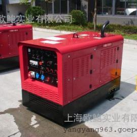 药芯焊、下向焊用久保田400A静音柴油发电电焊机