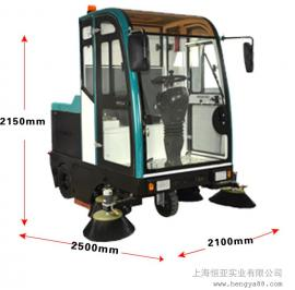 驾驶式电动扫地车 物业保洁仓库驾驶式扫地机清扫车选配洒水