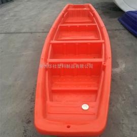 东阿5米双层塑料渔船河道清理船扑鱼船厂家直销