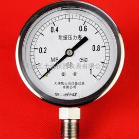 不锈钢轴向径向耐震压力表Y-100压力表