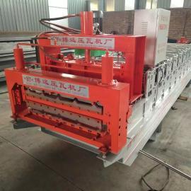 全自动彩钢压瓦机设备双层板瓦机