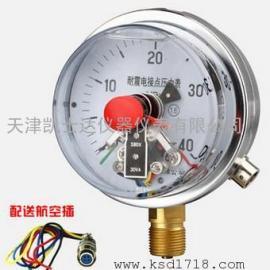 YXC100电接点压力表 220V380V M20*1.5轴向径向耐震1.6MPA压力表