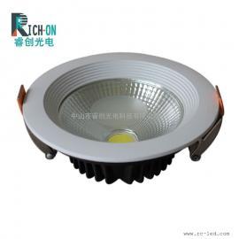 白色LED筒灯,COB太阳花台阶白色款