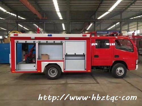 国五东风小多利卡2吨水罐消防车