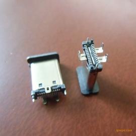 type-c立贴公头-双排24P+三立式脚+带防尘罩