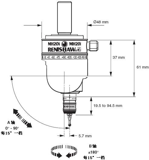 ENC 8156 MH20I测头三坐标测量机